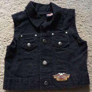 Authentic Harley Davidson kids jean vest